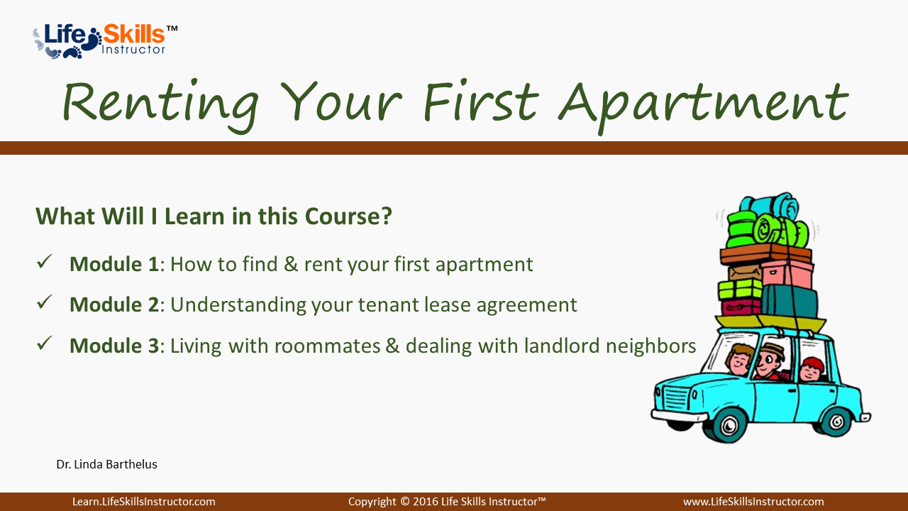rent your first apartment
