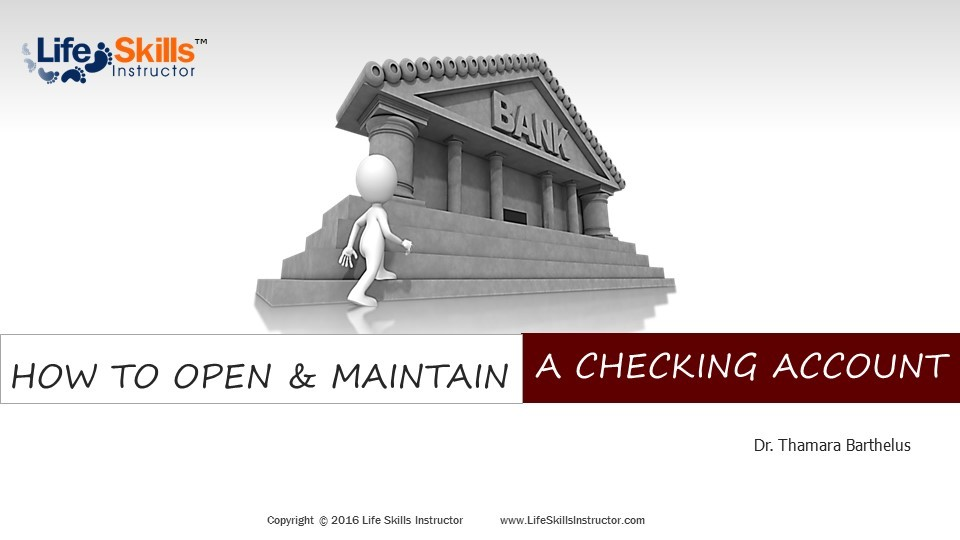 How to Open & Maintain Checking Account